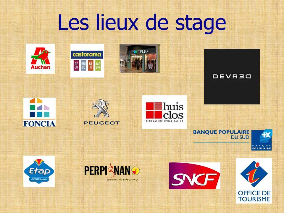 Les lieux de stage