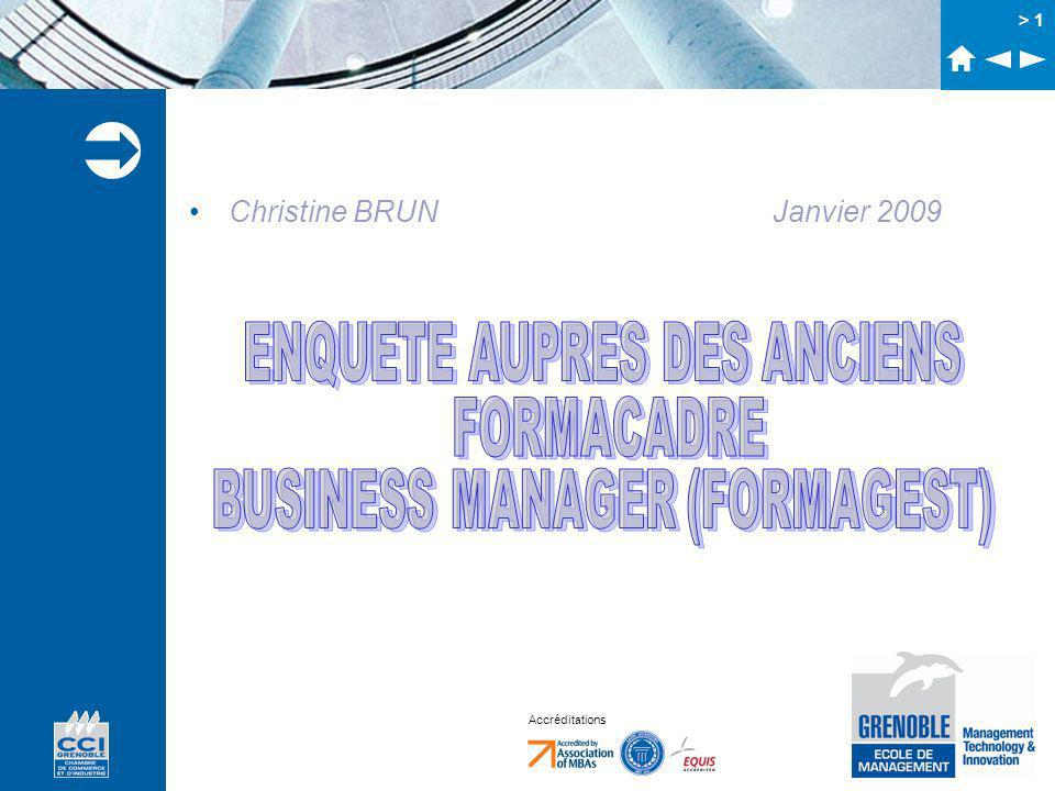 Accréditations > 1 Christine BRUN Janvier 2009