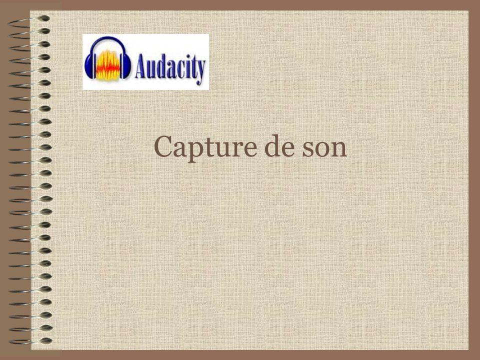 Capturer du son avec Audacity Audacity est un logiciel libre et gratuit d enregistrement et de montage son Il est facile d utilisation pour tous systèmes d exploitation : Windows, Mac OS X, GNU/Linux, et bien d autres.