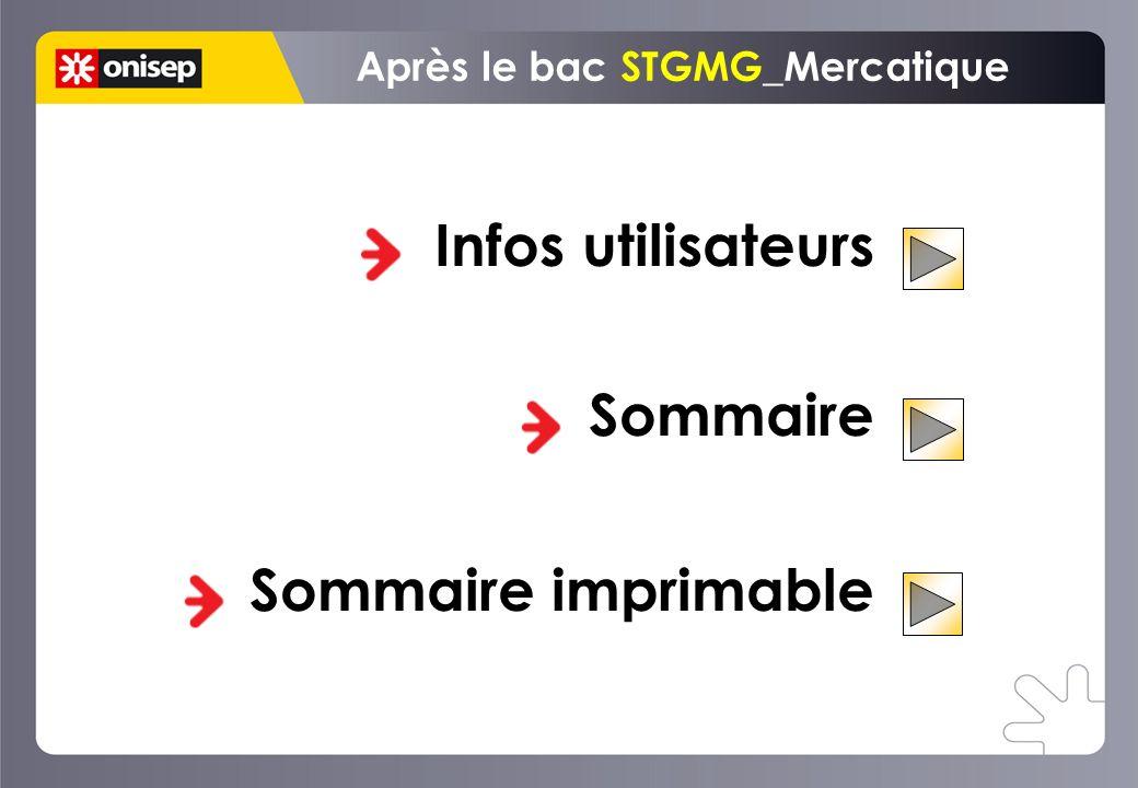 Infos utilisateurs Sommaire Sommaire imprimable Après le bac STGMG_Mercatique