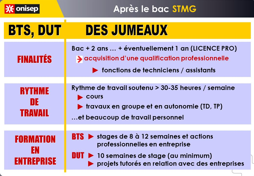 Bac + 2 ans … + éventuellement 1 an (LICENCE PRO) acquisition dune qualification professionnelle fonctions de techniciens / assistants stages de 8 à 1