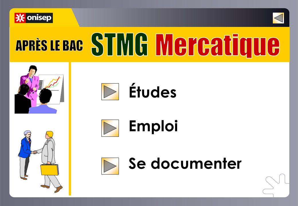Exemples doffres demplois à Bac+2 Après le bac STMG Mercatique Animateur de rayon Assistant Télémarketing Chef de rayon Manager de rayon Responsable de vente