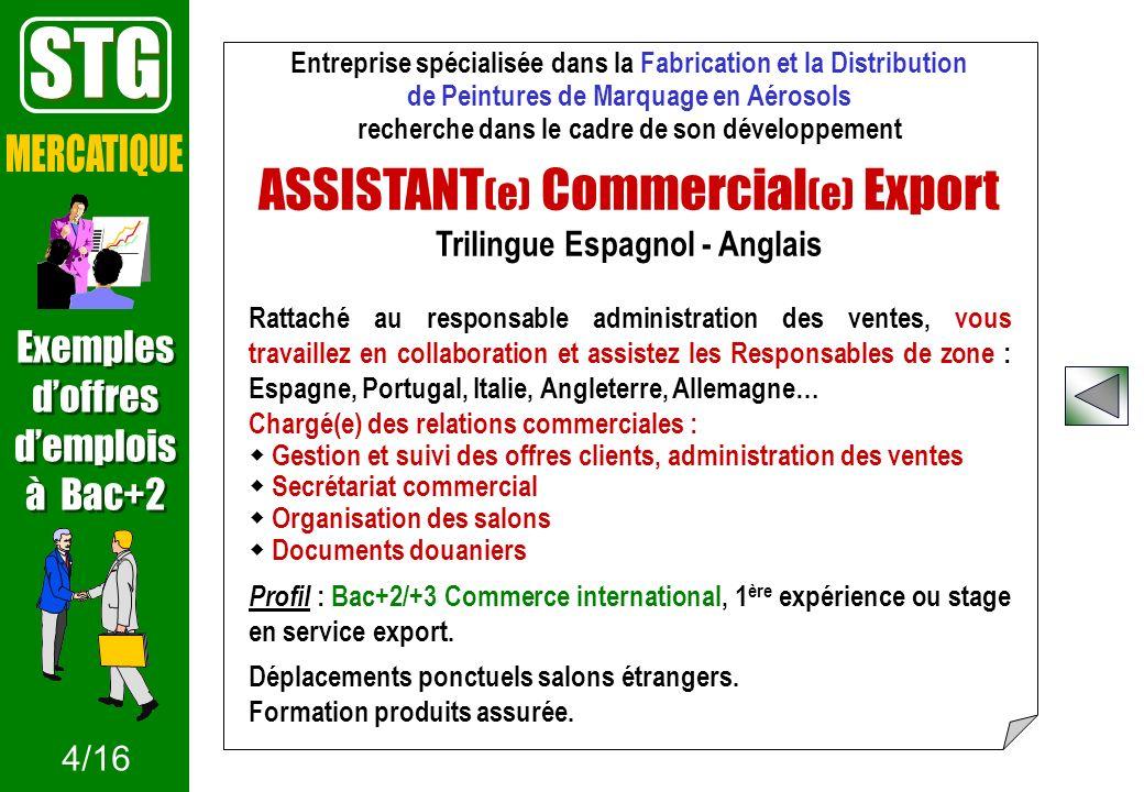 Entreprise spécialisée dans la Fabrication et la Distribution de Peintures de Marquage en Aérosols recherche dans le cadre de son développement ASSIST