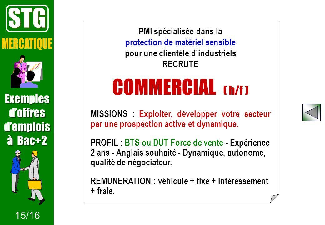 PMI spécialisée dans la protection de matériel sensible pour une clientèle dindustriels RECRUTE COMMERCIAL ( h/f ) MISSIONS : Exploiter, développer vo