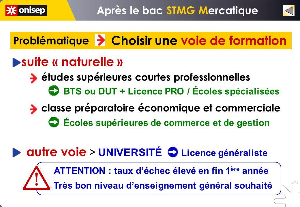 Nouveaux bacheliers 2010 Après le Bac STMG UNIVERSITÉ (Licence 1) 19,8 C.P.G.E.
