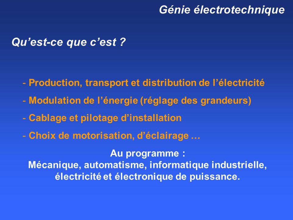 Génie électrotechnique Quest-ce que cest .