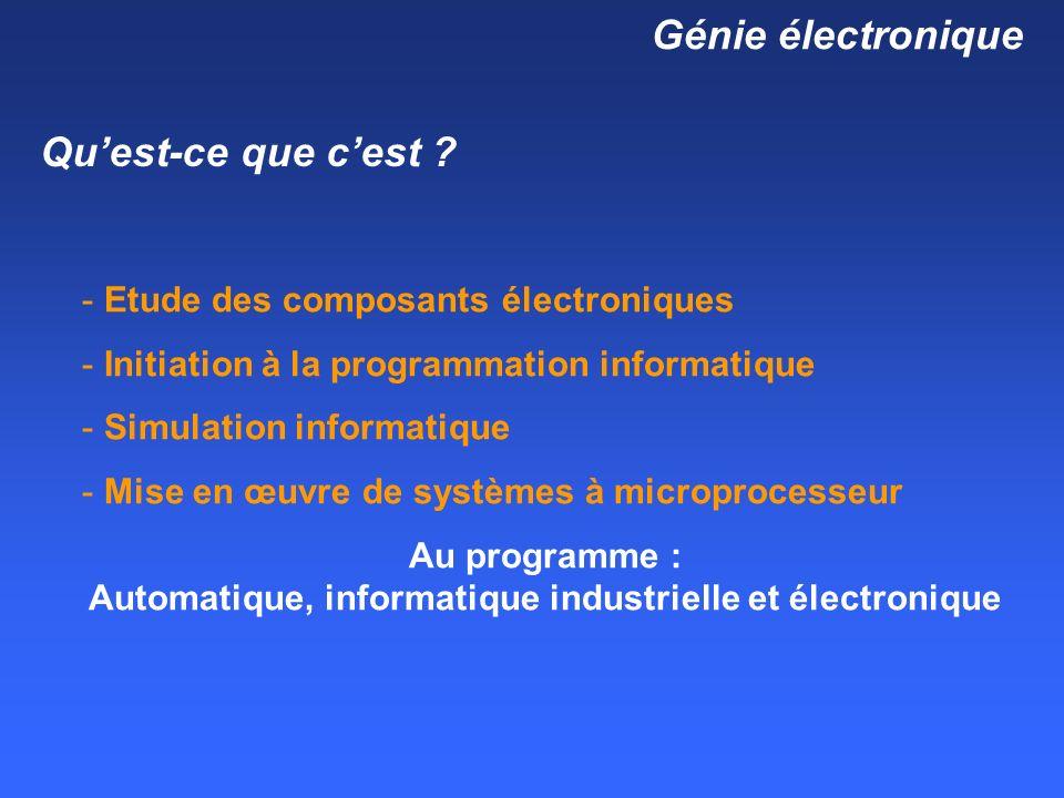 Génie électronique Quest-ce que cest .
