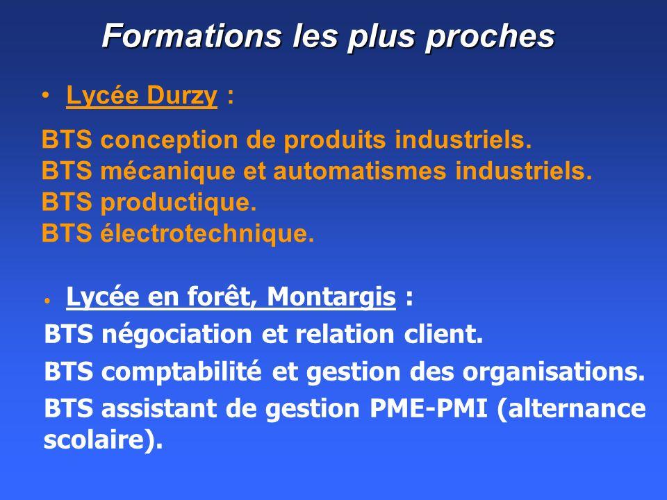 Formations les plus proches Lycée Durzy : BTS conception de produits industriels.