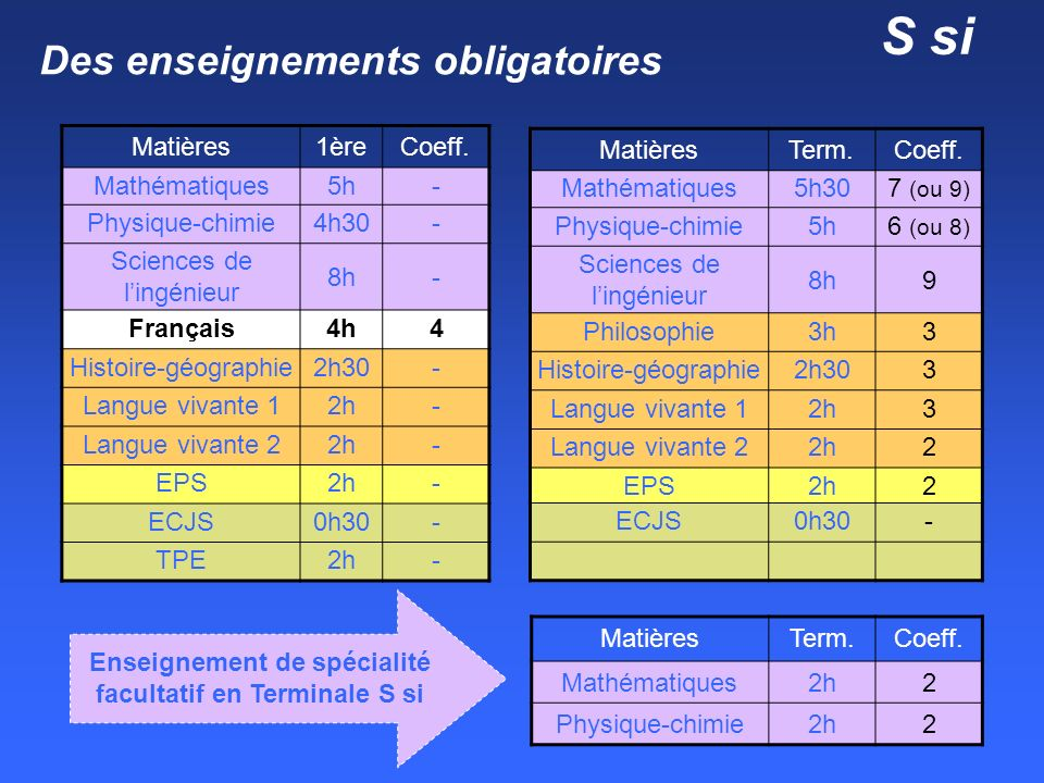 Options facultatives au lycée Durzy Matières 1ère Term. Latin EPS 3 h