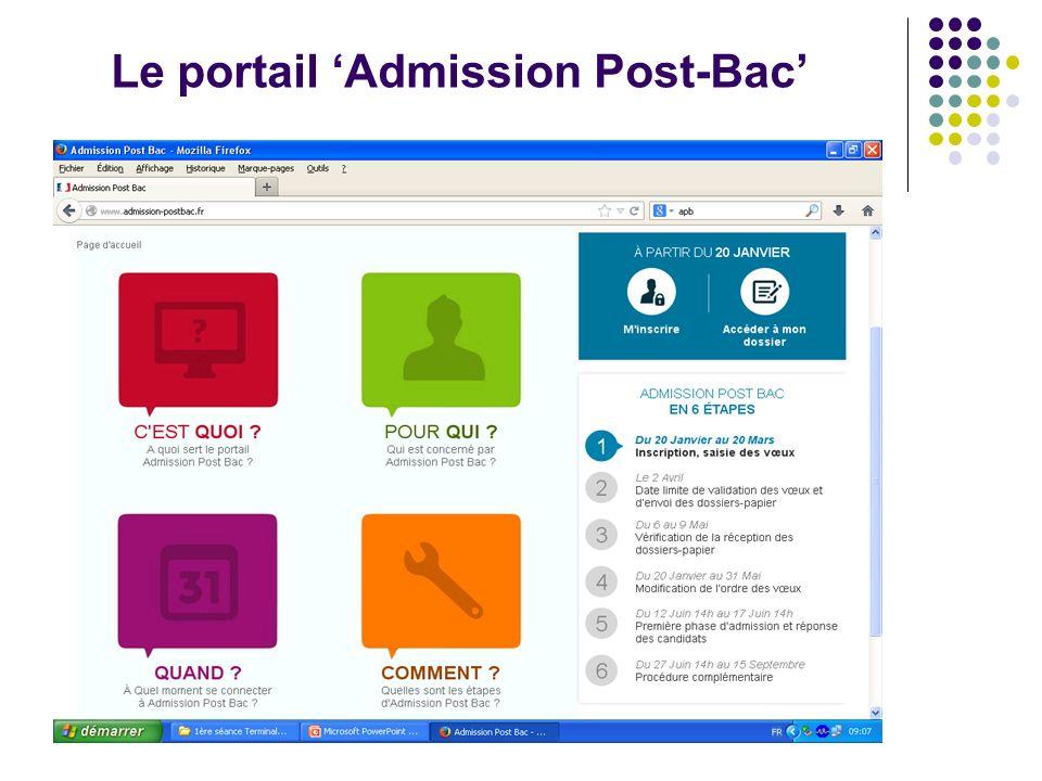 Le portail Admission Post-Bac