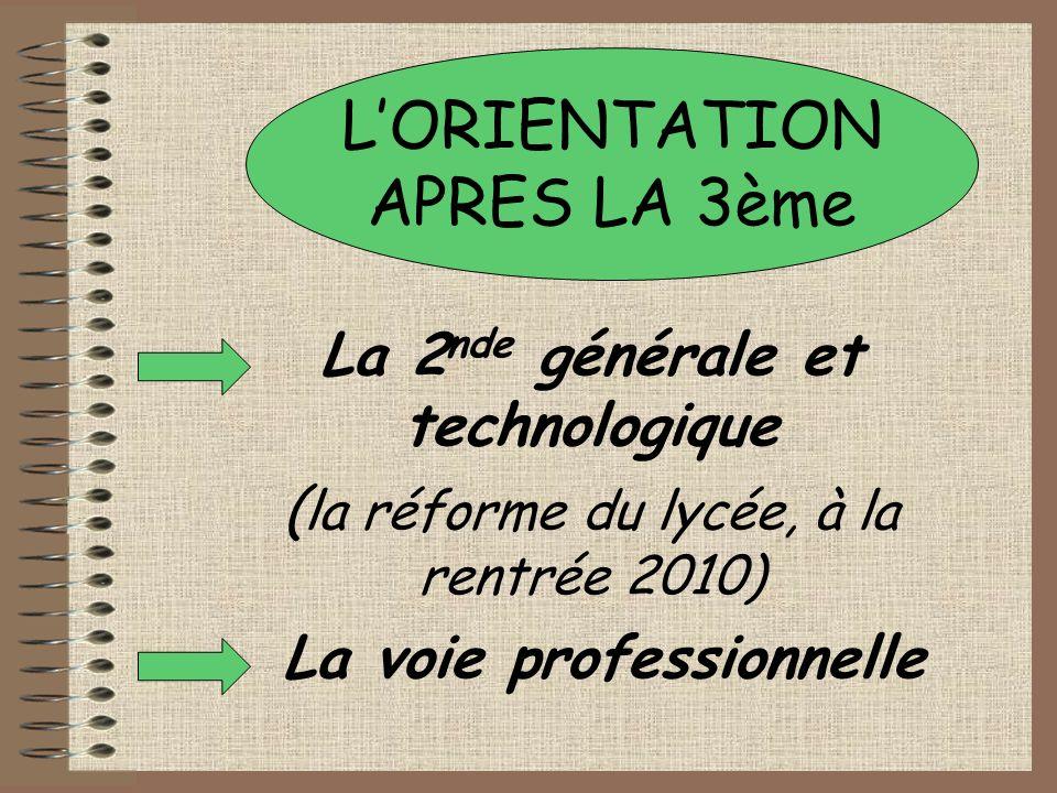 LES DIFFERENTES VOIES 2 NDE GENERALE ET TECHNOLOGIQUE 2 NDE PROFESSIONNELLE 1ERE GENERALE 1ERE TECHNOLOGIQUE TLE GENERALE TLE TECHNOLOGIQUE BAC L ES OU S BAC STG/STI STL/ST2S/STAV 1ERE PROFESSIONNELLE TLE PROFESSIONNELLE BAC PROFESSIONNEL 1 ère ANNEE CAP 2 ème ANNEE CAP