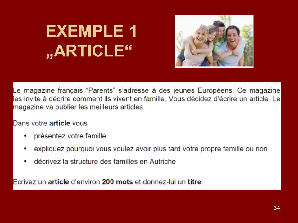 34 EXEMPLE 1 ARTICLE