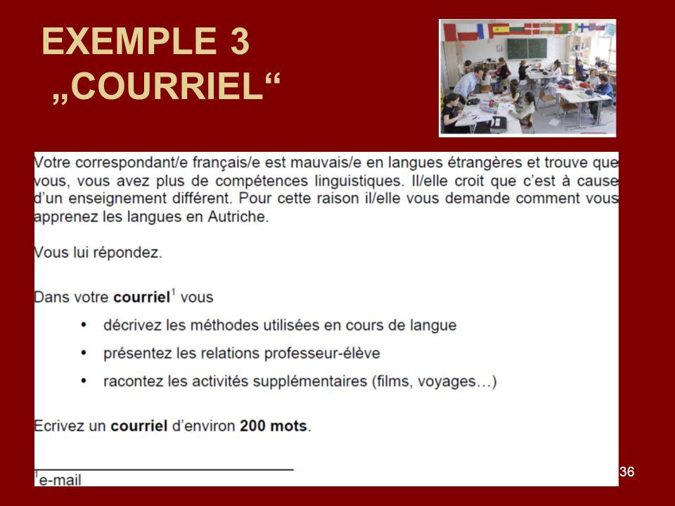 36 EXEMPLE 3 COURRIEL