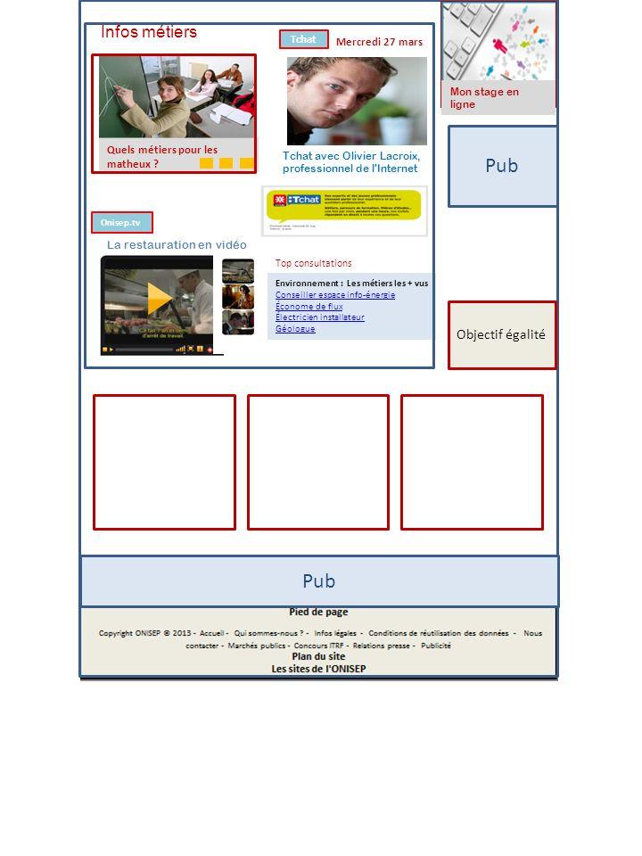 Pub Mon stage en ligne Environnement : Les métiers les + vus Conseiller espace info-énergie Économe de flux Électricien installateur Géologue Top cons