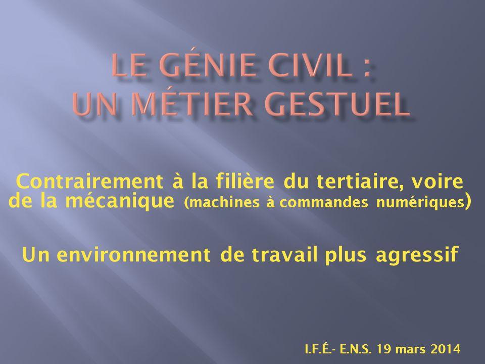 Contrairement à la filière du tertiaire, voire de la mécanique (machines à commandes numériques ) I.F.É.- E.N.S.