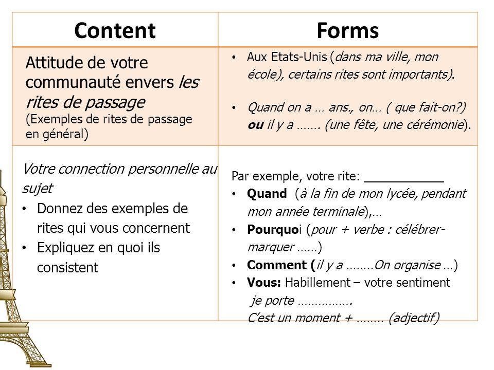 ContentForms Comparaison avec lattitude dun pays francophone vis à vis du bac.