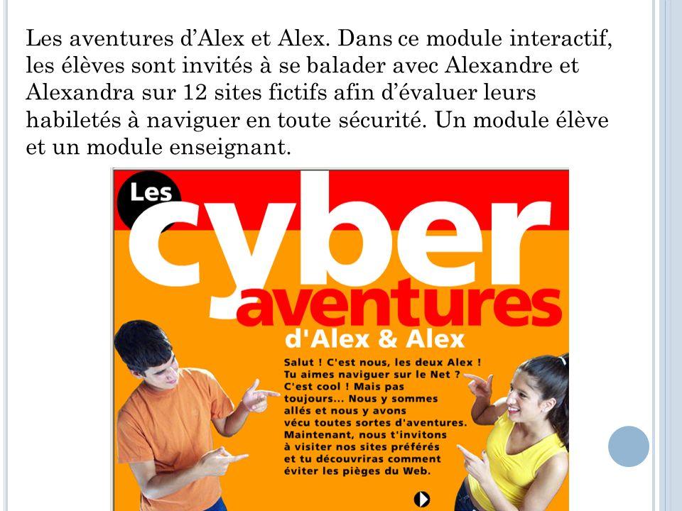 Les aventures dAlex et Alex.