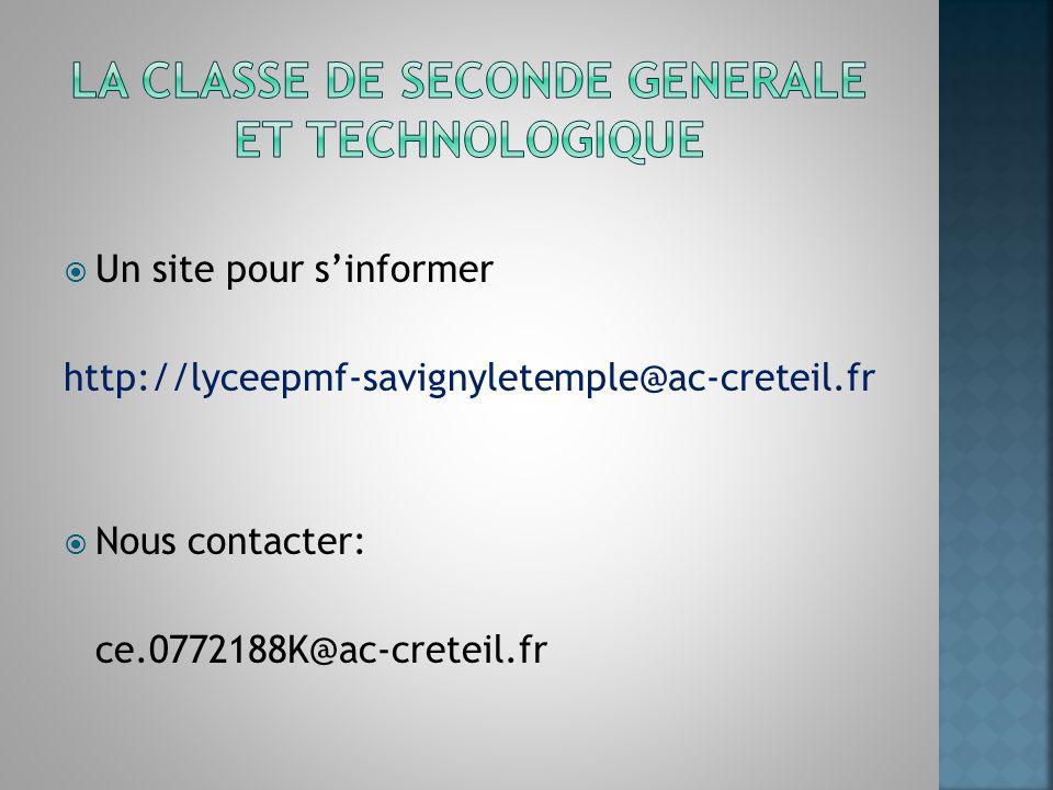 Un site pour sinformer http://lyceepmf-savignyletemple@ac-creteil.fr Nous contacter: ce.0772188K@ac-creteil.fr