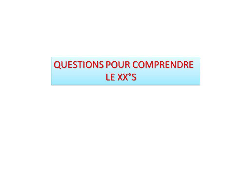 QUESTIONS POUR COMPRENDRE LE XX°S LE XX°S QUESTIONS POUR COMPRENDRE LE XX°S LE XX°S