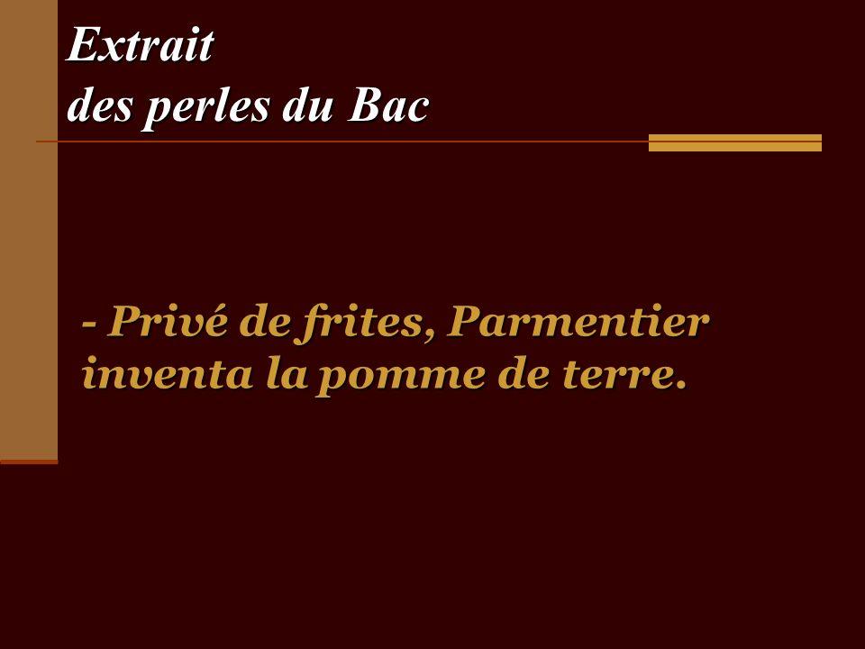 Extrait des perles du Bac - Les Français sont de plus en plus intéressés par leur arbre gynécologique - Les Français sont de plus en plus intéressés par leur arbre gynécologique.