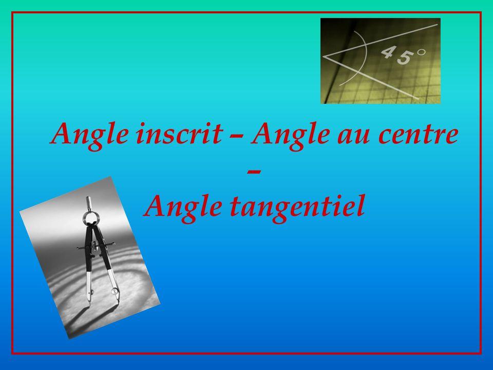 Propriété n°2: Propriété n°2: Dans tout cercle, deux angles inscrits interceptant le même arc de cercle ont la même amplitude.
