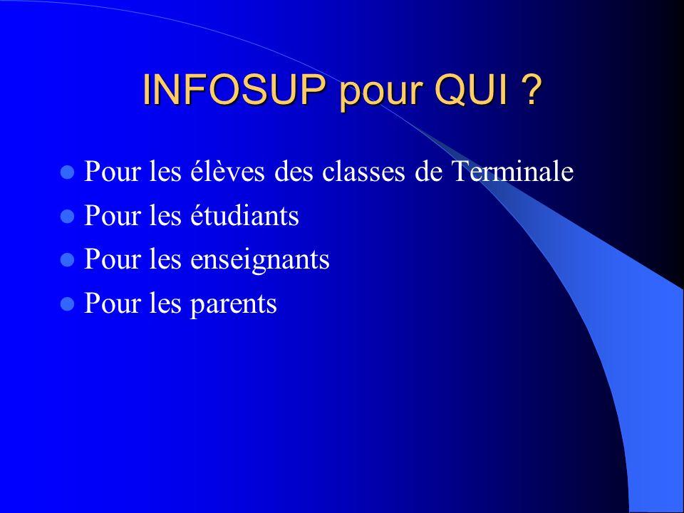 INFOSUP pour QUOI .