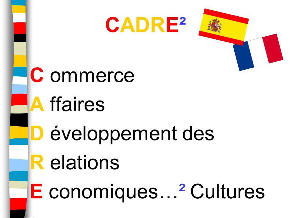 C ommerce A ffaires D éveloppement des R elations E conomiques…² Cultures. CADRE²