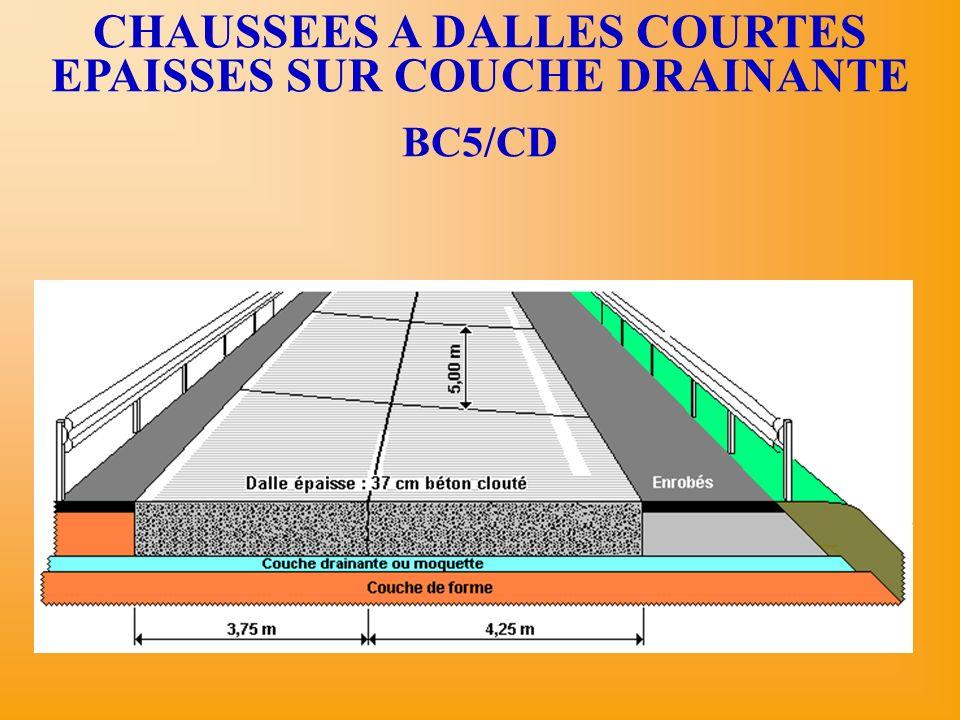 CHAUSSEES A DALLES COURTES EPAISSES SUR COUCHE DRAINANTE BC5/CD