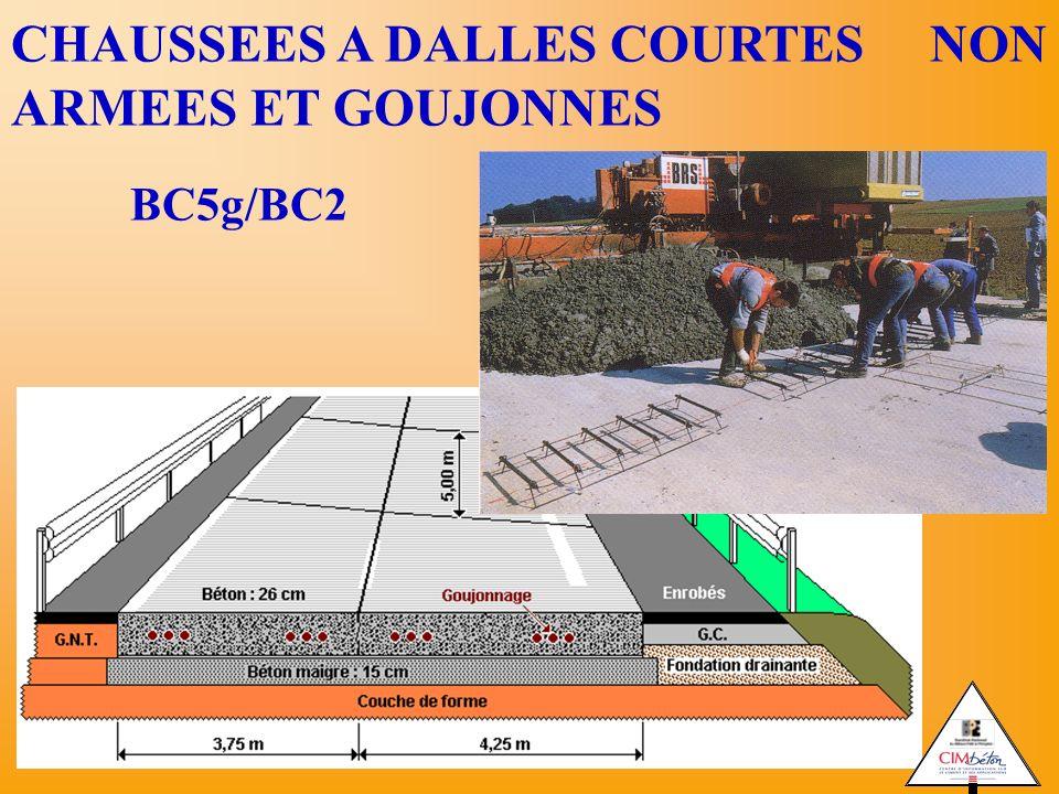 CHAUSSEES A DALLES COURTES NON ARMEES ET GOUJONNES BC5g/BC2