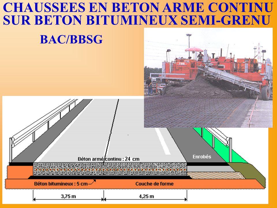 CHAUSSEES EN BETON ARME CONTINU SUR BETON BITUMINEUX SEMI-GRENU BAC/BBSG