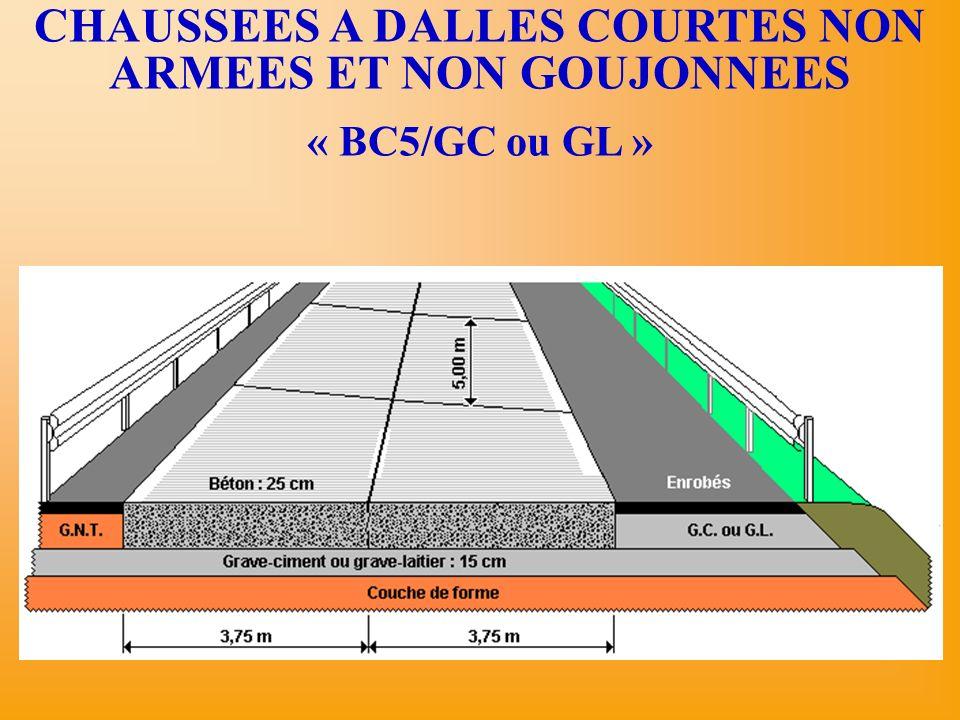 CHAUSSEES A DALLES COURTES NON ARMEES ET NON GOUJONNEES « BC5/GC ou GL »
