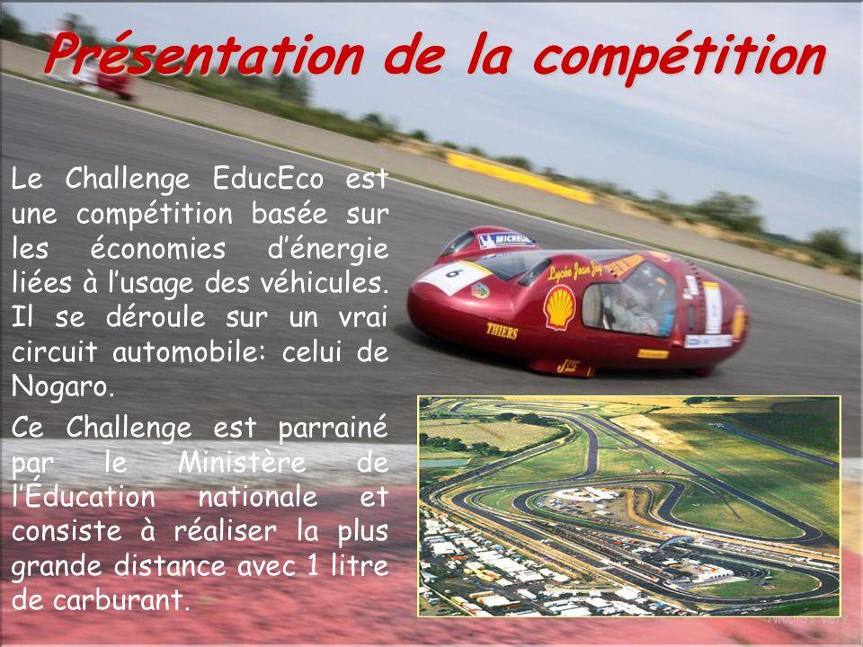 Le Challenge EducEco est une compétition basée sur les économies dénergie liées à lusage des véhicules.