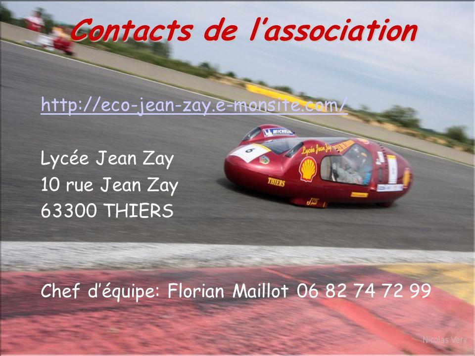 http://eco-jean-zay.e-monsite.com/ Lycée Jean Zay 10 rue Jean Zay 63300 THIERS Chef déquipe: Florian Maillot 06 82 74 72 99 Contacts de lassociation