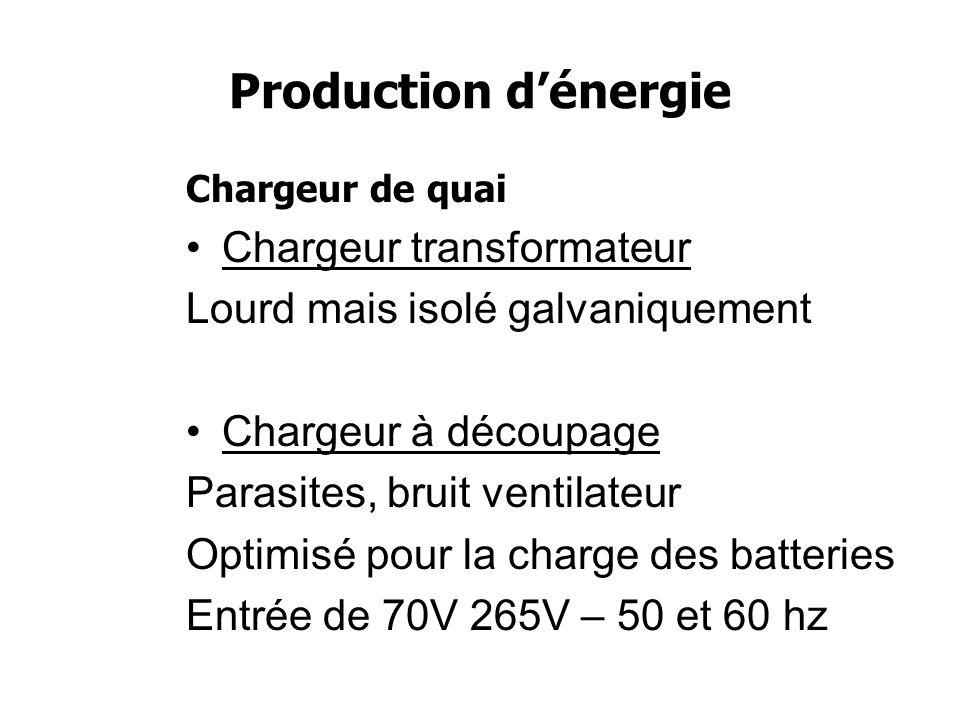 Stockage dénergie Type de batterie Tension d absorption Tension de floating Plomb ouvert14.8V13.8V Plomb fermé ou AGM14.4V13.5V Gel14.1-14.4V13.3V