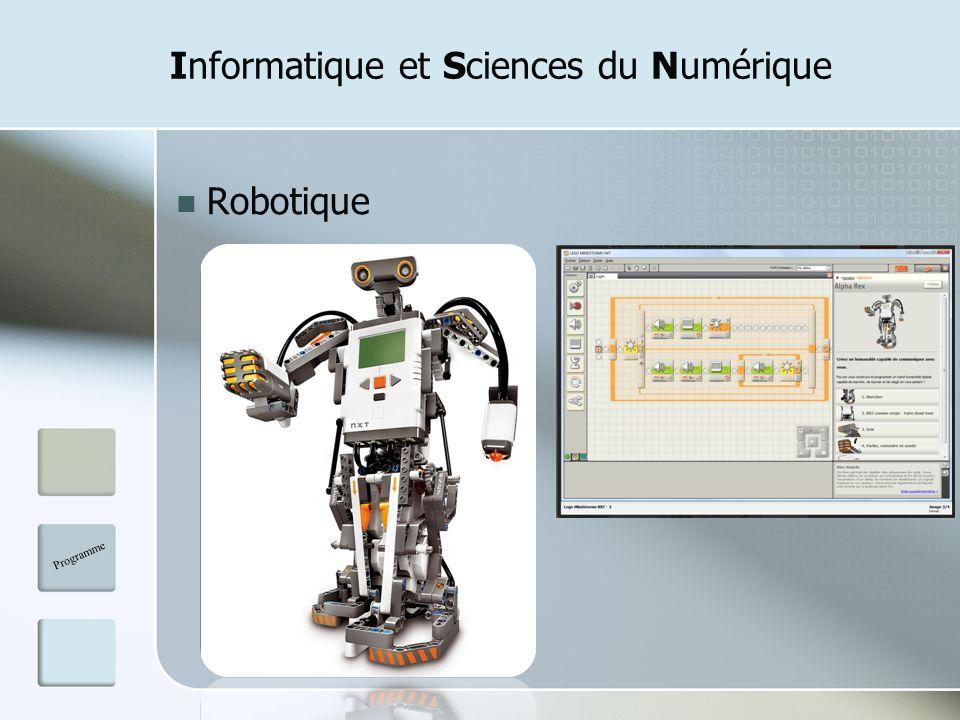 Informatique et Sciences du Numérique Robotique Programme