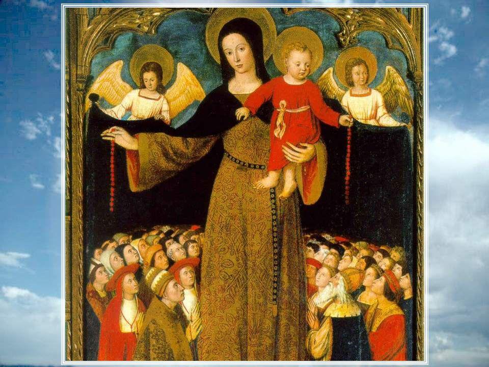 Conduis-nous par la main, comme une vraie maman, A travers les écueils, auprès de ton Enfant. Il est notre salut, il est notre victoire, lui qui est t