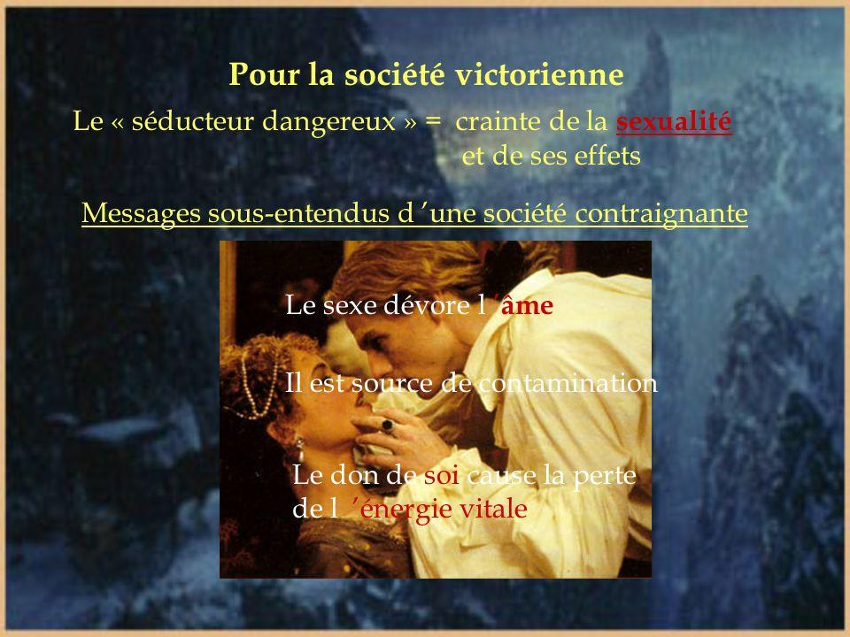 La séduction devient un thème dominant La victime est celle qui cède à la tentation