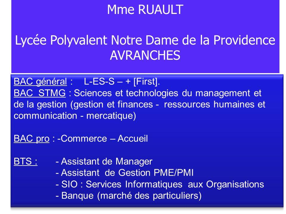 BAC général :L-ES-S – + [First]. BAC STMG : Sciences et technologies du management et de la gestion (gestion et finances - ressources humaines et comm
