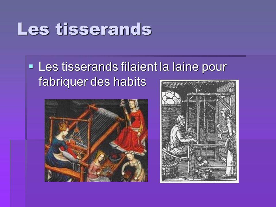Les forgerons Les forgerons travaillaient les métaux pour en faire des armes, des cotes de mailles, des armures, etc..