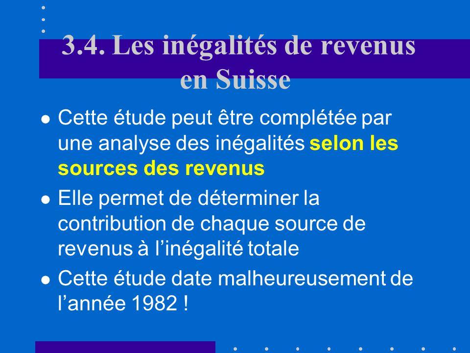 Au cours des 5 dernières décennies, la Suisse a enregistré une hausse tendancielle des inégalités de revenu Linflation a joué un rôle redistributif Le