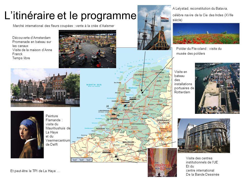 Litinéraire et le programme Polder du Flevoland : visite du musée des polders A Lelystad, reconstitution du Batavia, célèbre navire de la Cie des Inde