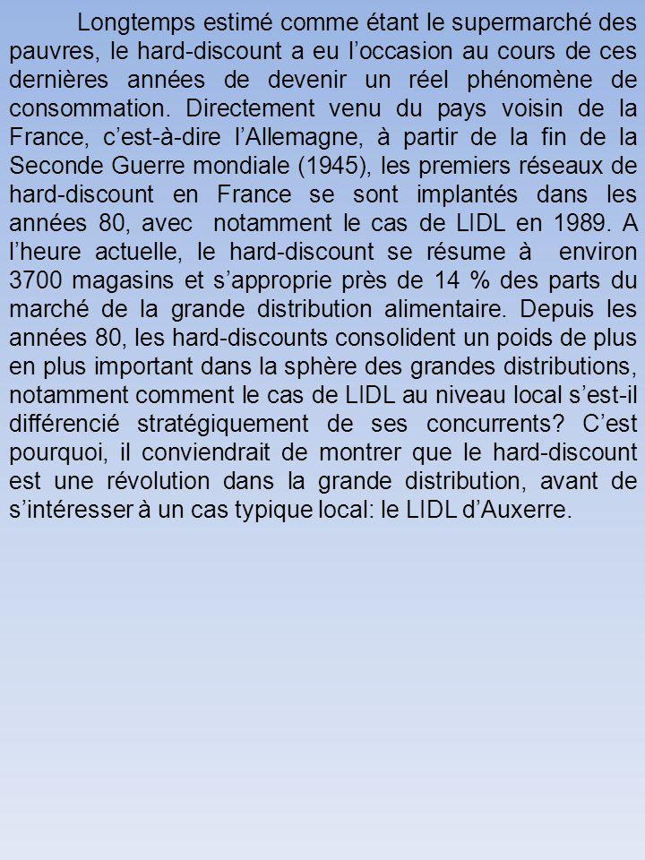 II) Un cas typique local: LIDL dAuxerre Dans cette ultime partie, on présentera le groupe LIDL, avant danalyser la stratégie du groupe, pour aboutir sur les perspectives de développement.