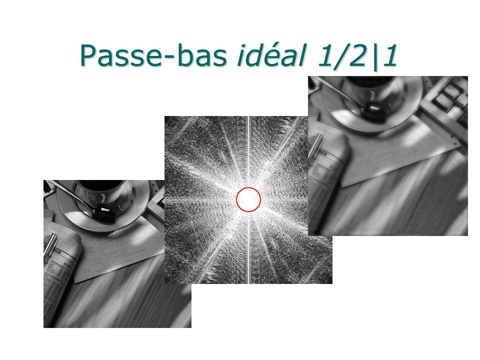 Passe-bas idéal 1/2|1