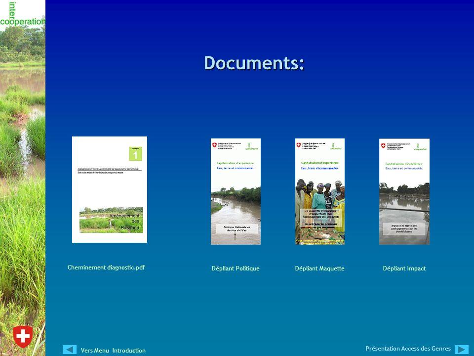 Documents: Cheminement diagnostic.pdf Dépliant ImpactDépliant Maquette Présentation Access des Genres Vers Menu Introduction Dépliant Politique