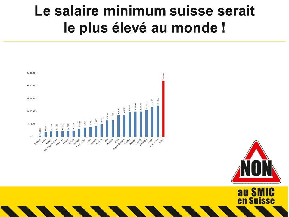 Le salaire minimum suisse serait le plus élevé au monde .