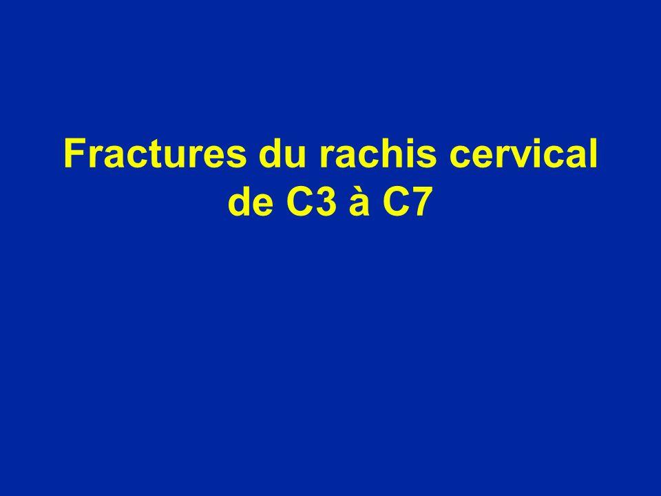 Fractures du rachis cervical de C3 à C7