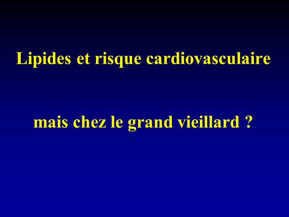 Lipides et risque cardiovasculaire mais chez le grand vieillard