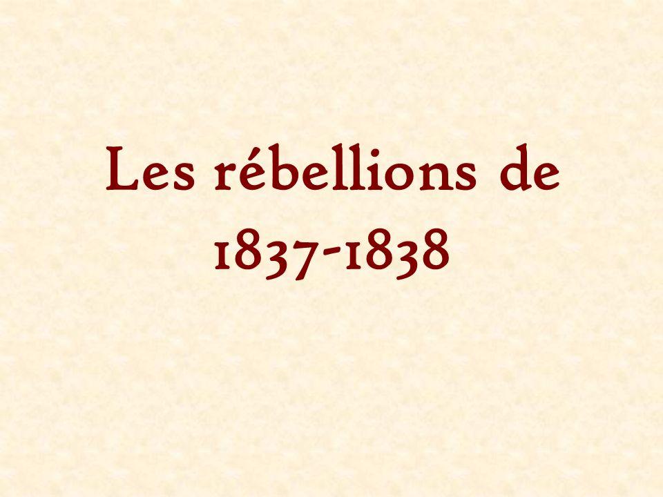Les rébellions de 1837-1838