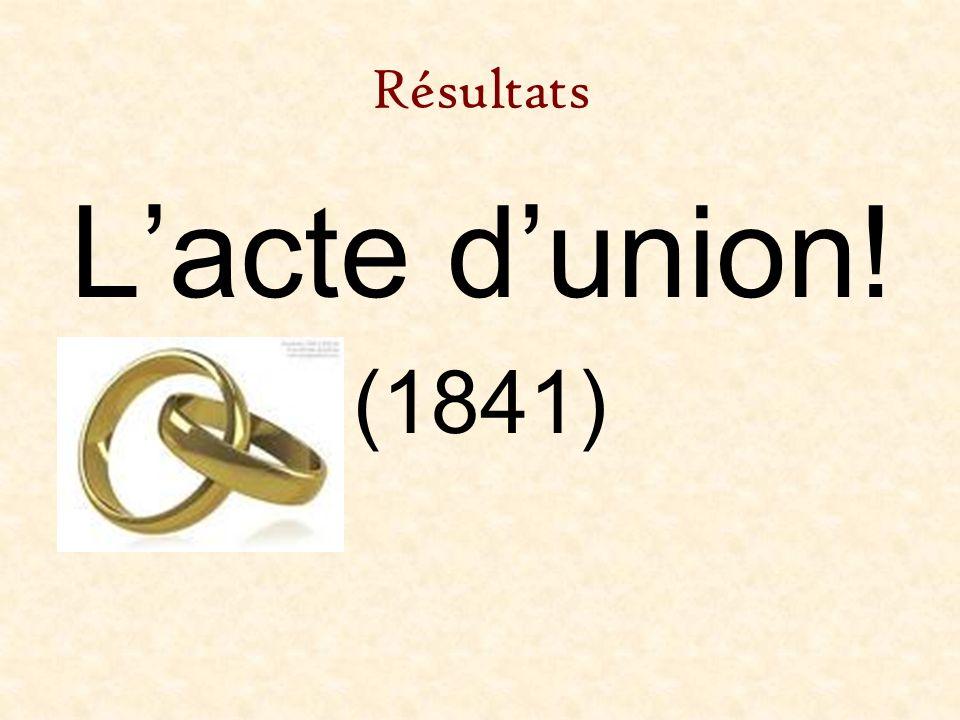 Résultats Lacte dunion! (1841)