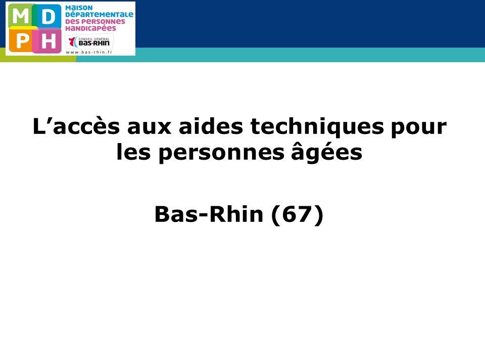 Laccès aux aides techniques pour les personnes âgées Bas-Rhin (67)